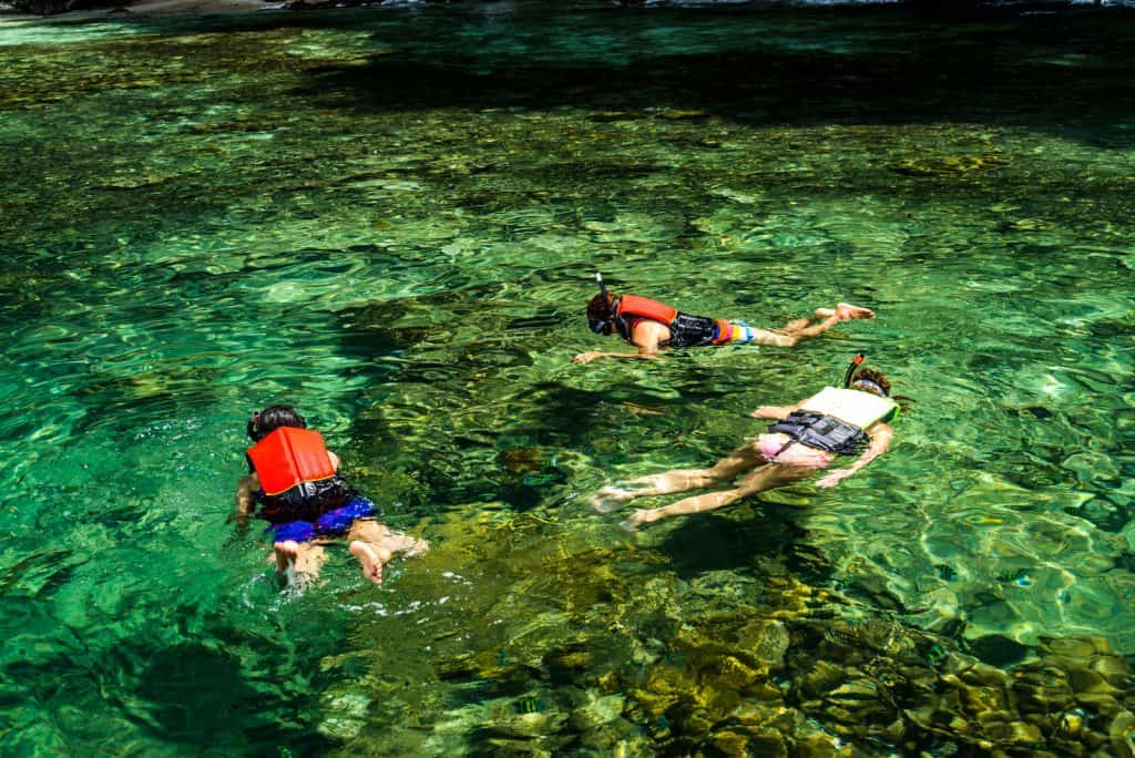 Snorkelling with Children is fun for the whole family