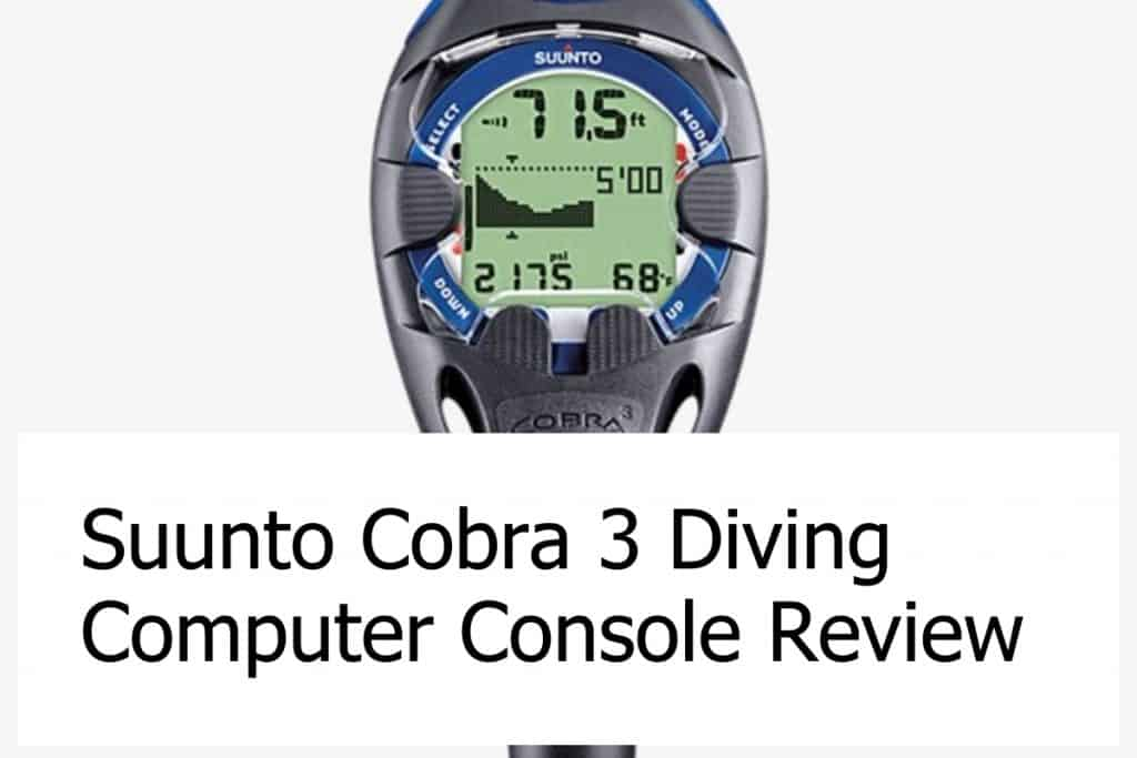 Review of the Cobra 3 Diving Computer Console from Suunto