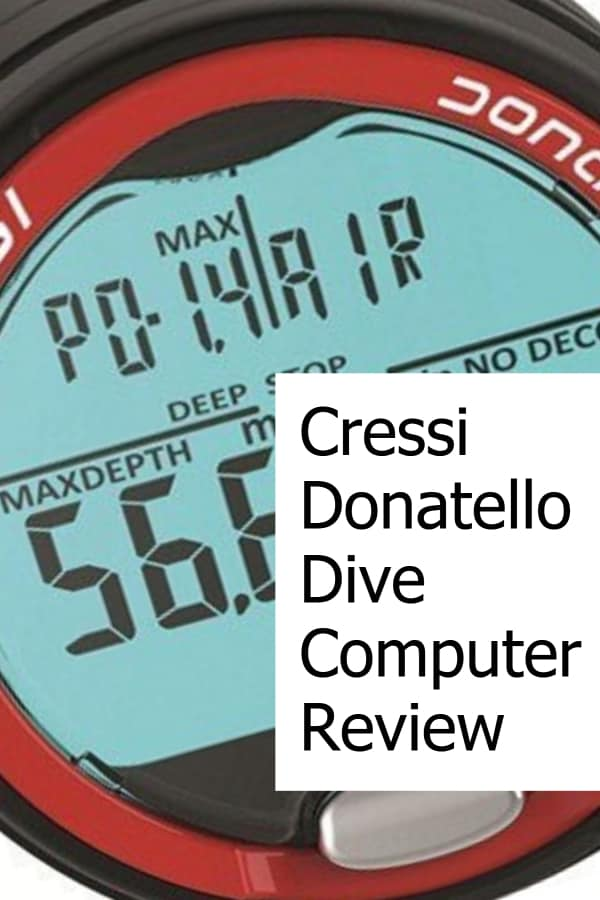 Review of the Cressi Donatello Wrist Scuba Diving Computer
