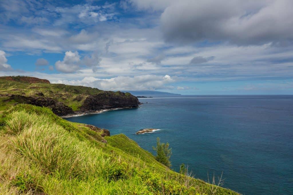 Maui coastline for scuba diving